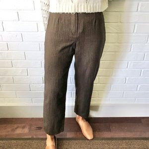 Vintage high waist wide straight wool trousers 8